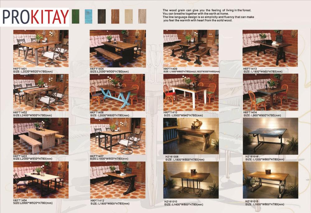 Американский лофт: столы, стулья и полки-4