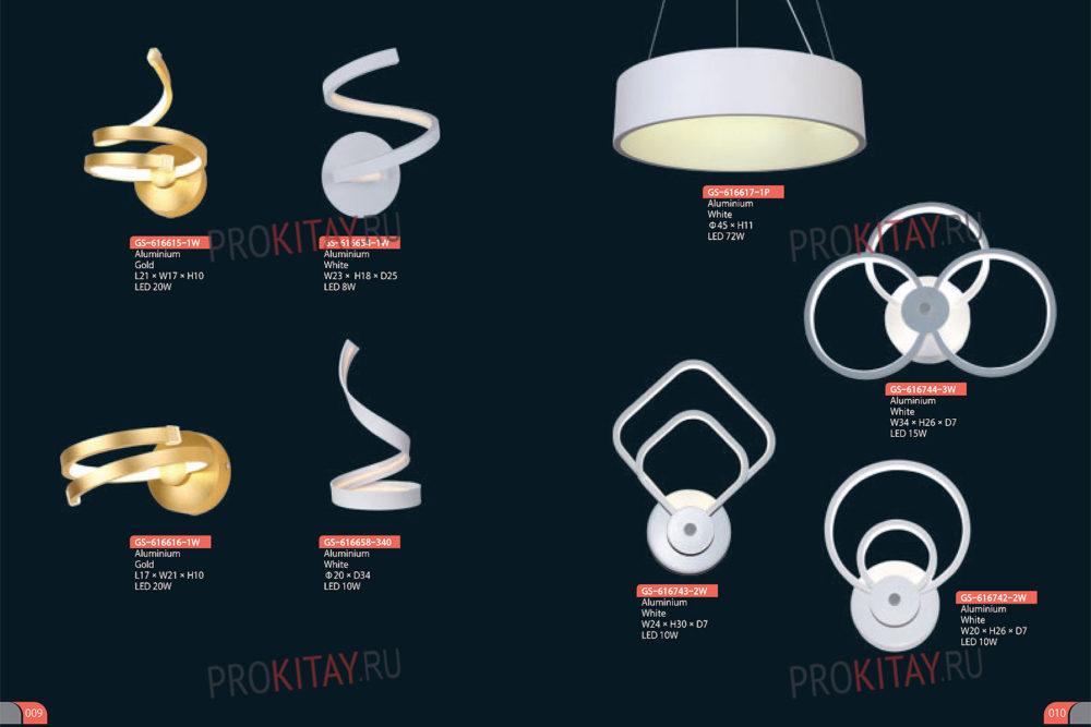 Современные LED светильники-4