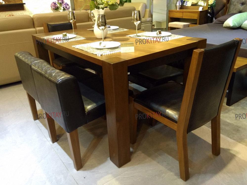 Фото из шоурума современной мебели: массив ореха+мдф+шпон в коричневых тонах-2