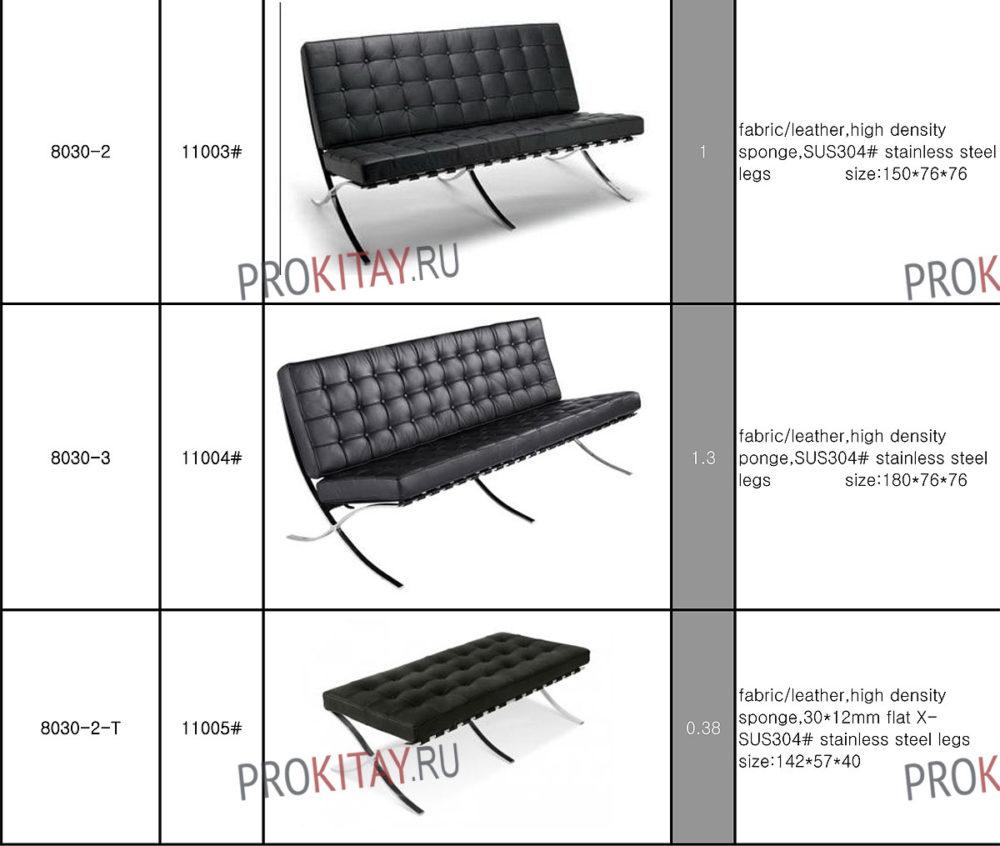 Табличный каталог модных дизайнерских кресел-1