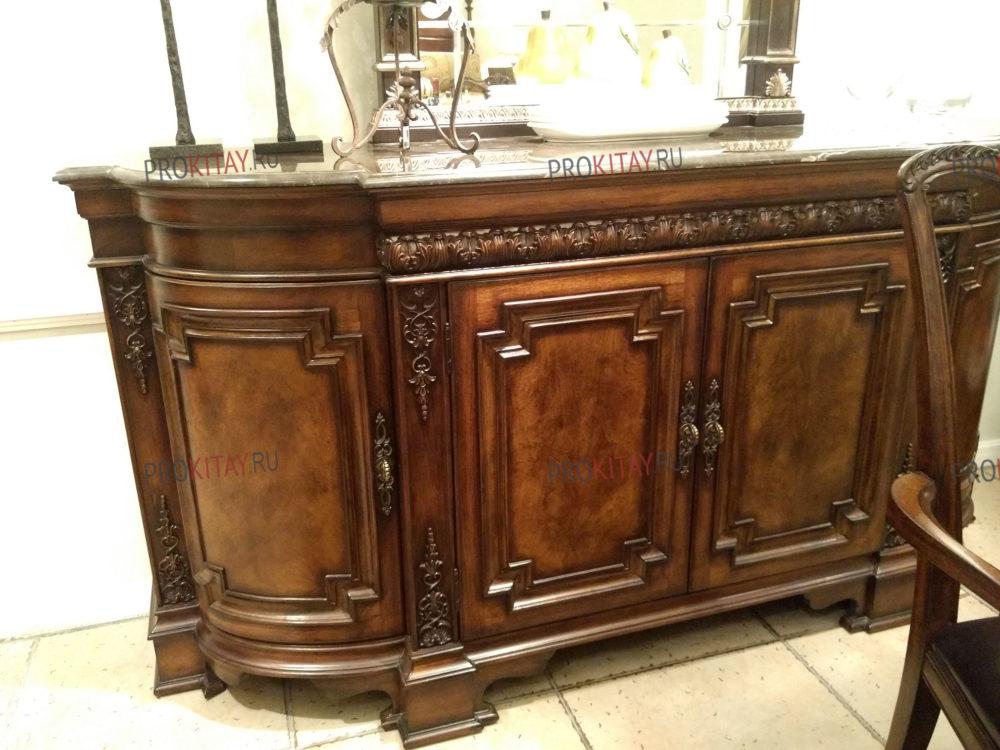 Классическая, состаренная мебель из массива ореха, мебельный тур из Иркутска-4