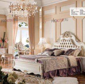 Классическая белая мебель из дуба