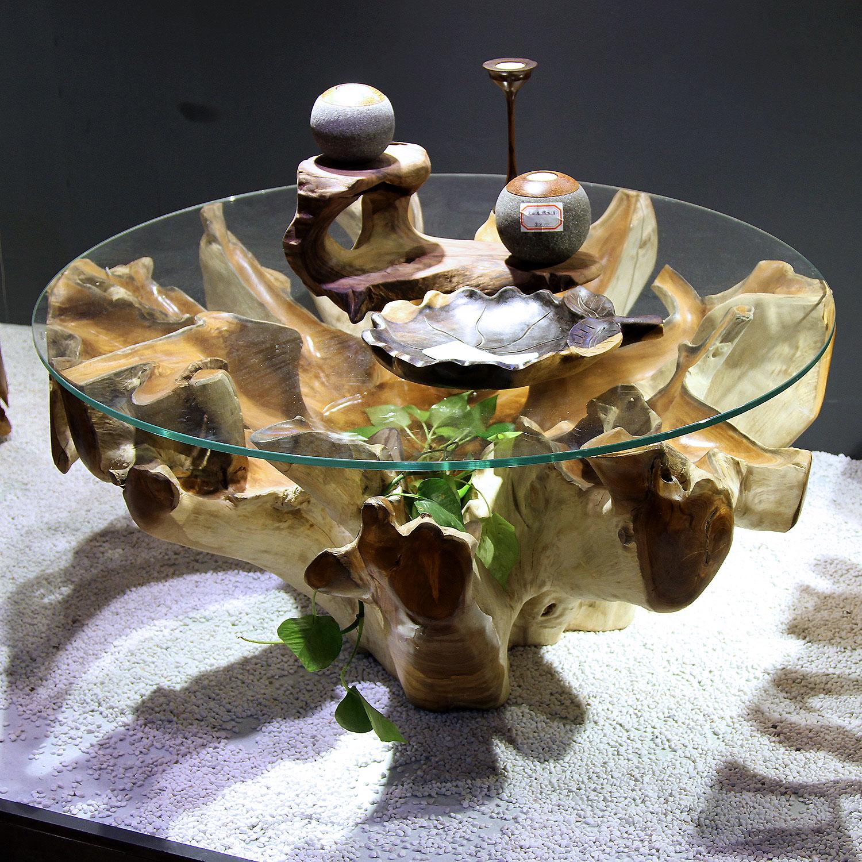 Экостиль: мебель из корней и стволов с эпоксидной смолой в стиле Terry Dwan
